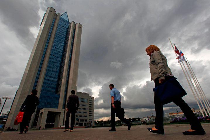 Gazprom-Zentrale in Moskau: 37 Prozent Gewinnrückgang