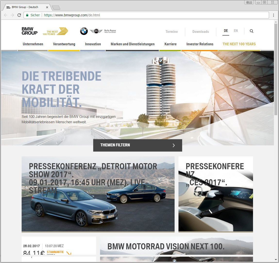 SCREENSHOT bmwgroup.com