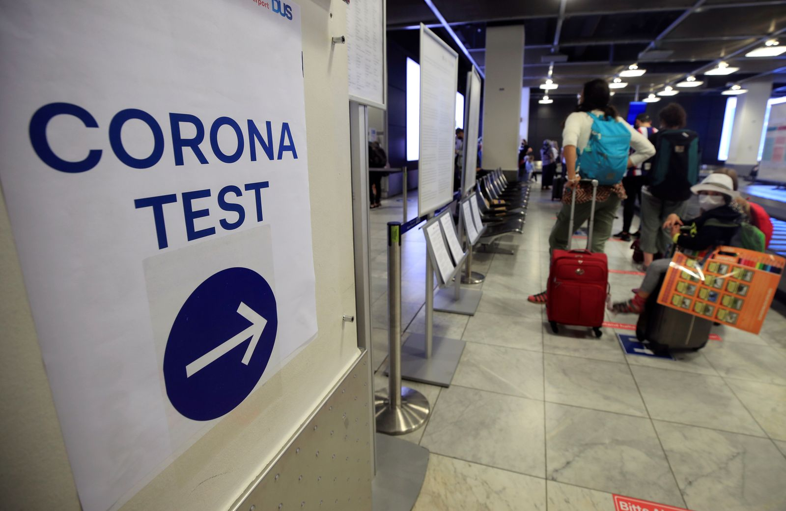 Corona test centre at Duesseldorf Airport