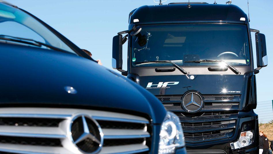 Bald made in China: Sattelzugmaschinen von Mercedes-Benz werden bislang nur in kleiner Stückzahl nach China geliefert
