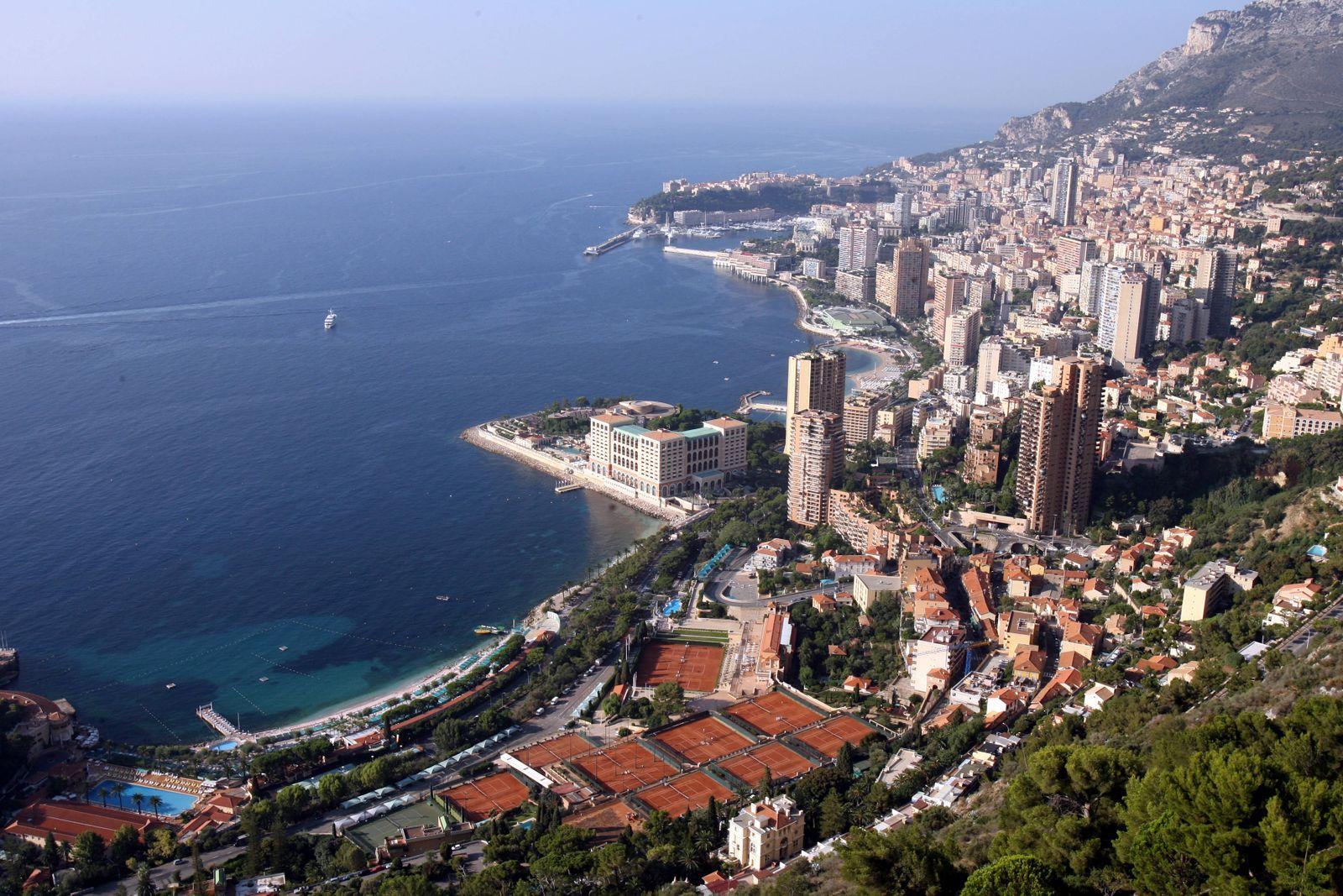 Monaco / Monte Carlo / Panorama / Mittelmeer / Häuser