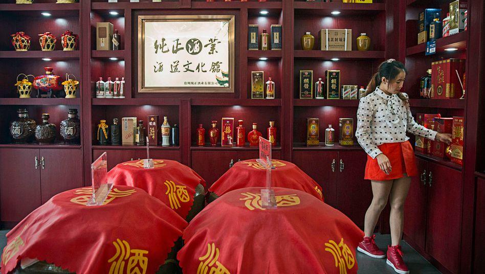 Doppelt so hohe Margen wie Diageo: Spirituosen-Verkauf in Chinas Provinz Guizhou.