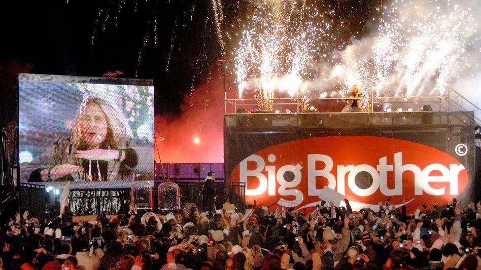"""""""Big-Brother""""-Finale: Das umstrittene Fernsehformat, bei dem eine Gruppe Menschen wochenlang in einem Container eingeschlossen lebt, wurde 1999 zum ersten Mal ausgestrahlt"""