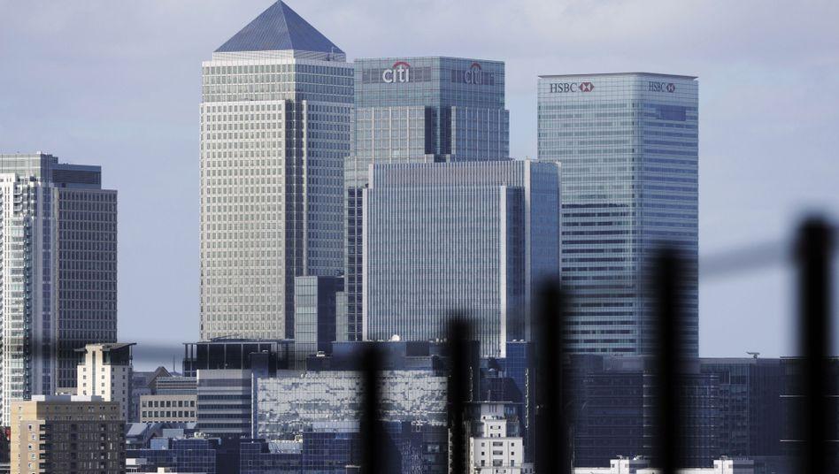Bankenviertel in London: Mehrere Banken sollen den Interbankenzins Libor über Jahre hinweg manipuliert haben