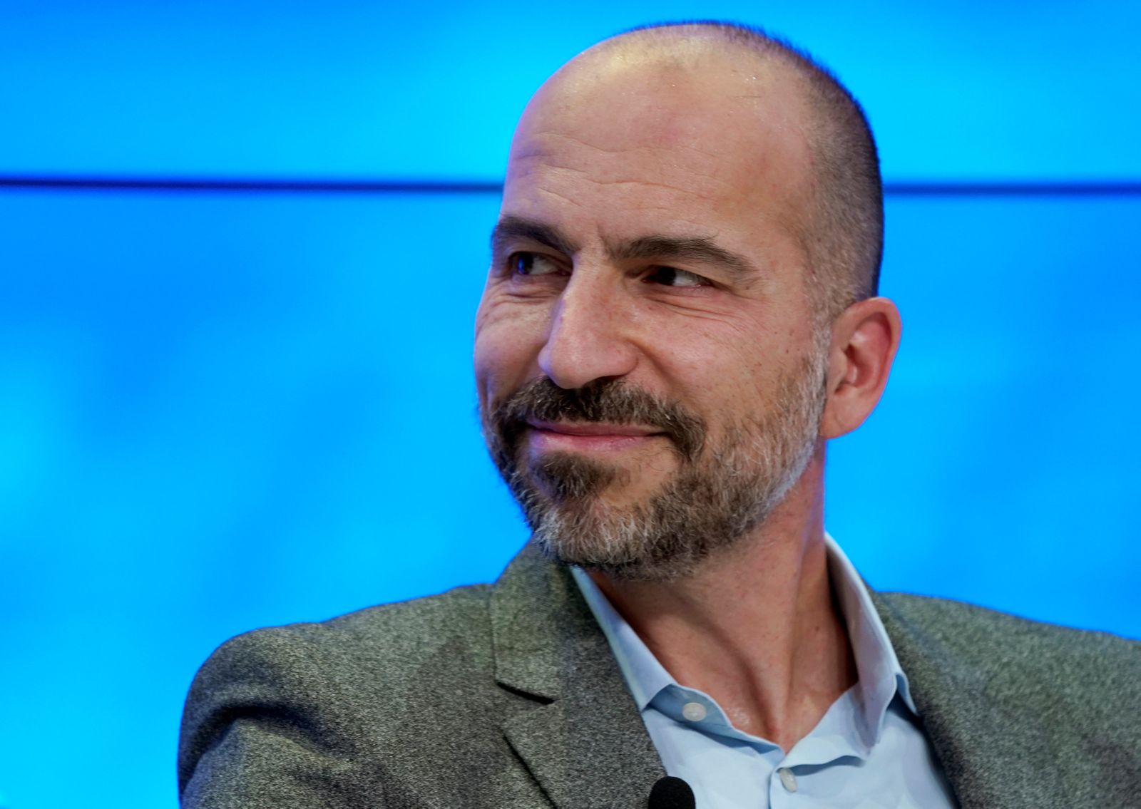 Dara Khosrowshahi, Chief Executive Officer of Uber Technologies, attends the World Economic Forum (WEF) annual meeting in Davos