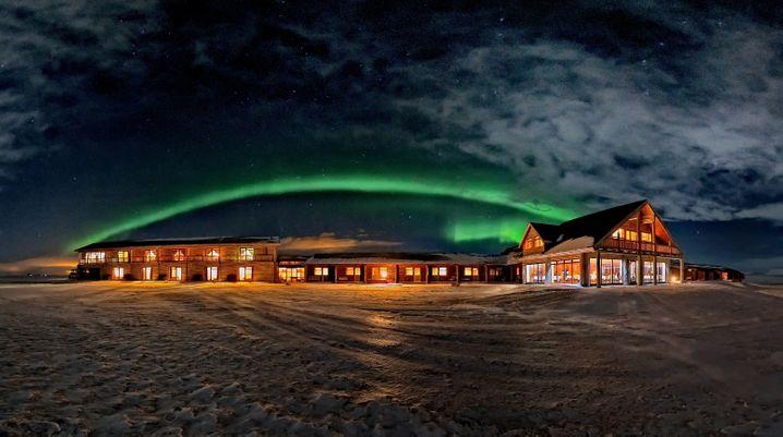 Lightshow: Das Hotel Ranga bietet einen Weckdienst für Polarlichtfreunde