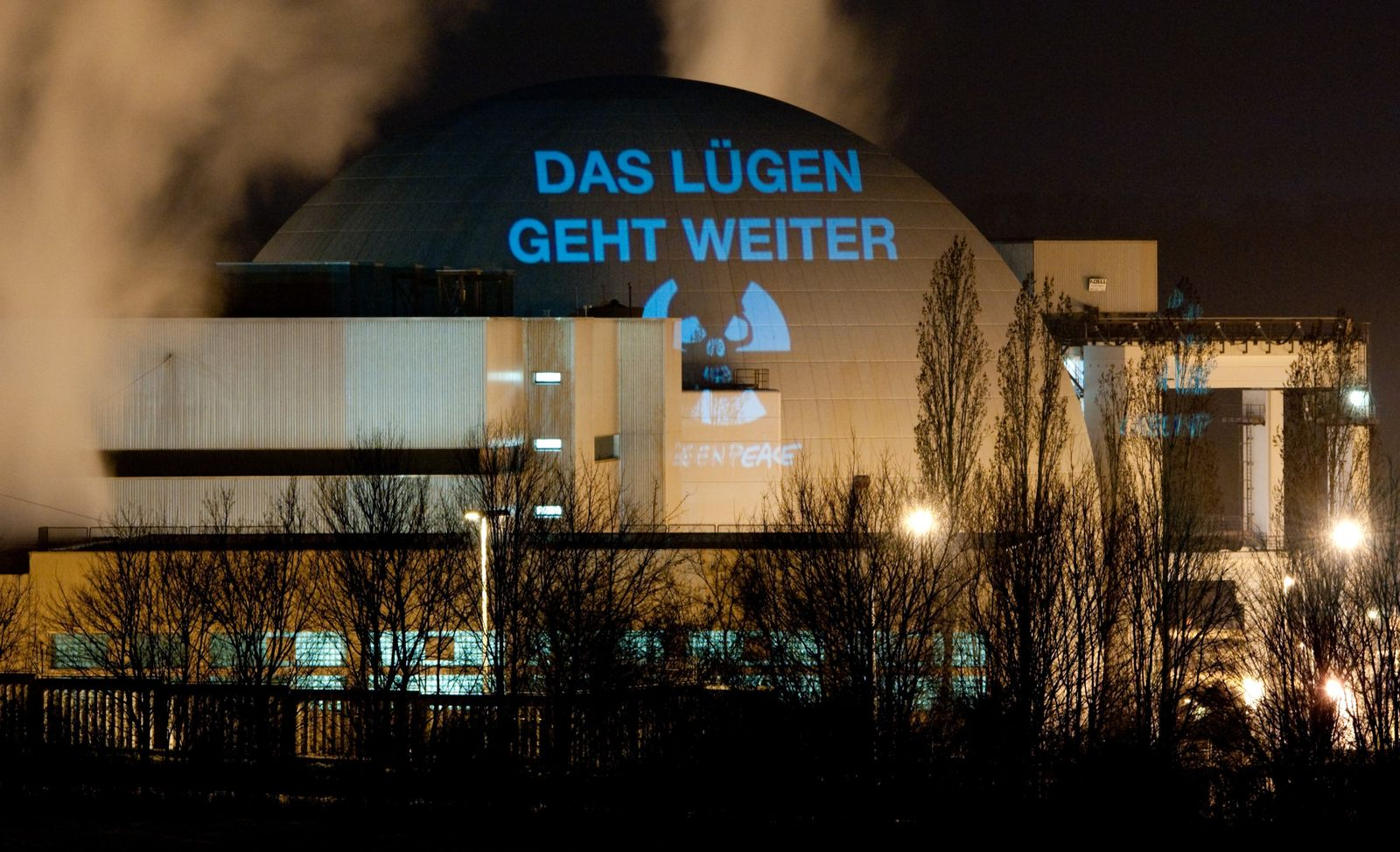 Greenpeace-Protest gegen AKW Neckarwestheim