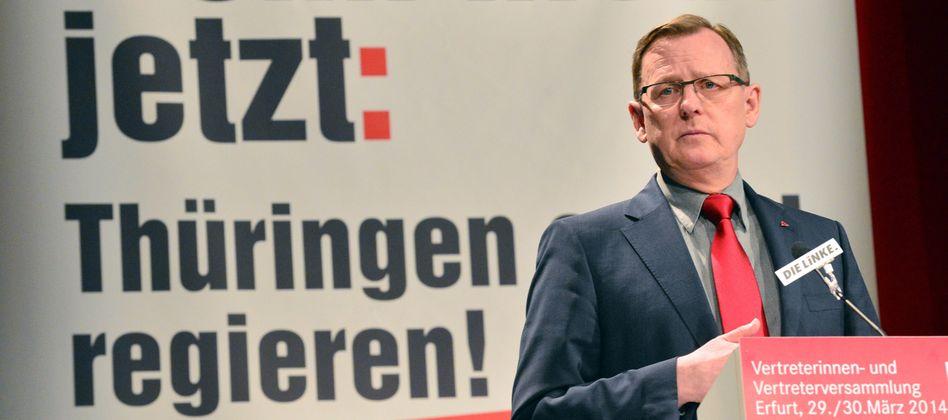 Wird er der erste Ministerpräsident der Linkspartei? Bodo Ramelow hat in Thüringen gute Chancen