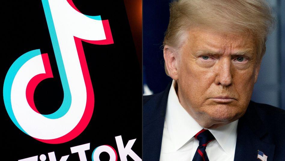 Besonders bei Jugendlichen beliebt, bei US-Präsident Donald Trump nicht: Die chinesische Videoplattform und Smartphone-App TikTok könnte in den USA komplett verboten werden