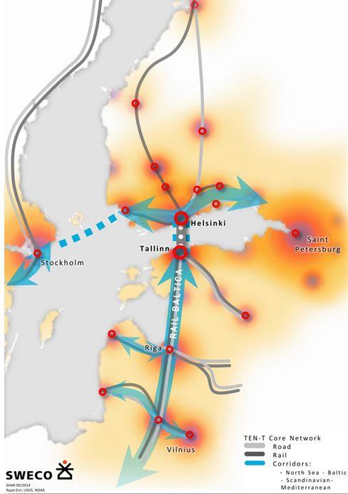 Helsinki to Tallinn tunnel