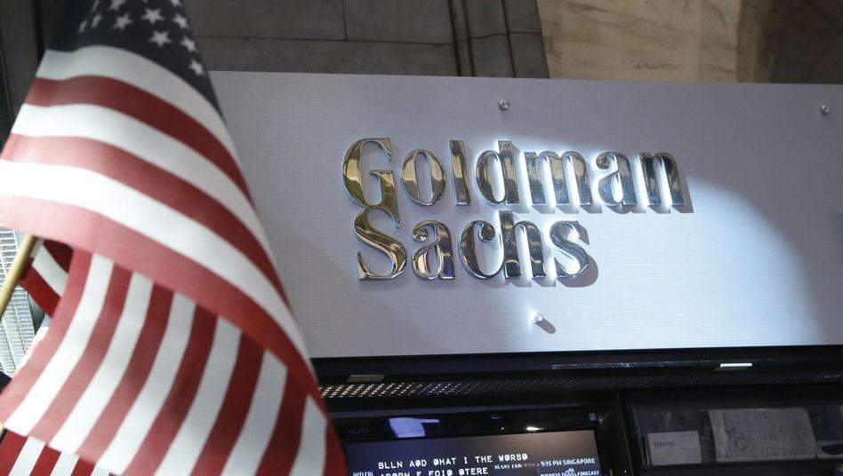 Goldman-Sachs-Stand an der New Yorker Börse: Der Handel mit Aktien und Anleihen lief bei der US-Bank zuletzt eher mau.