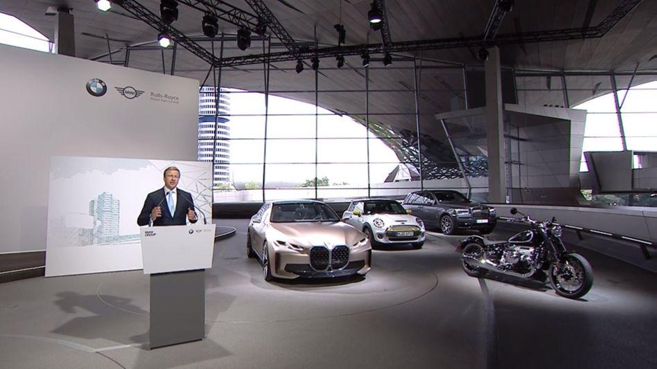 """BMW-Chef Zipse auf der Online-Hauptversammlung des Autobauers: """"Ihr Unternehmen handelt zuverlässig - auch in der Dividendenpolitik"""""""