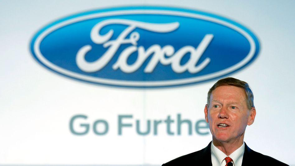 Ford-Chef Alan Mulally: Gerüchte um den Chef beschäftigten die Medien zuletzt mehr als die Vorstellung des neuen Ford Mustang