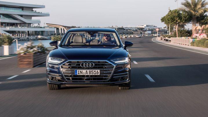Testfahrt im Audi A8: 400 Funktionen, 40 Assistenten