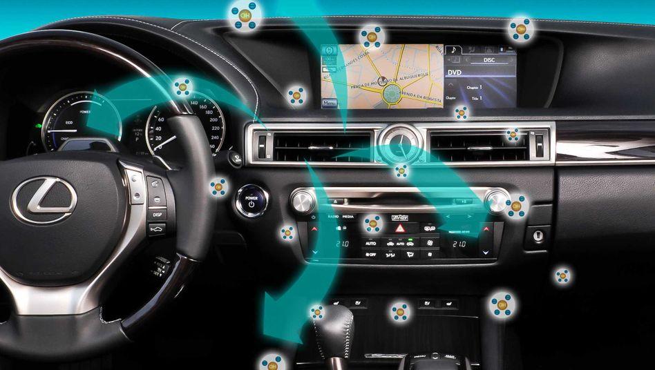 Hightech gegen den Mief: Im Lexus GS binden negativ geladene Ionen Schadstoffe und Gerüche aus der Luft. Ein ähnliches System gibt es für das Elektroauto Renault Zoe.