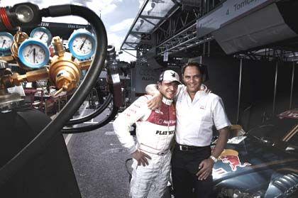 Die Brüder Abt leiten den Autoaufrüster Abt Sportsline. Christian (l.) fuhr bis Oktober 2007 als Profi in der DTM
