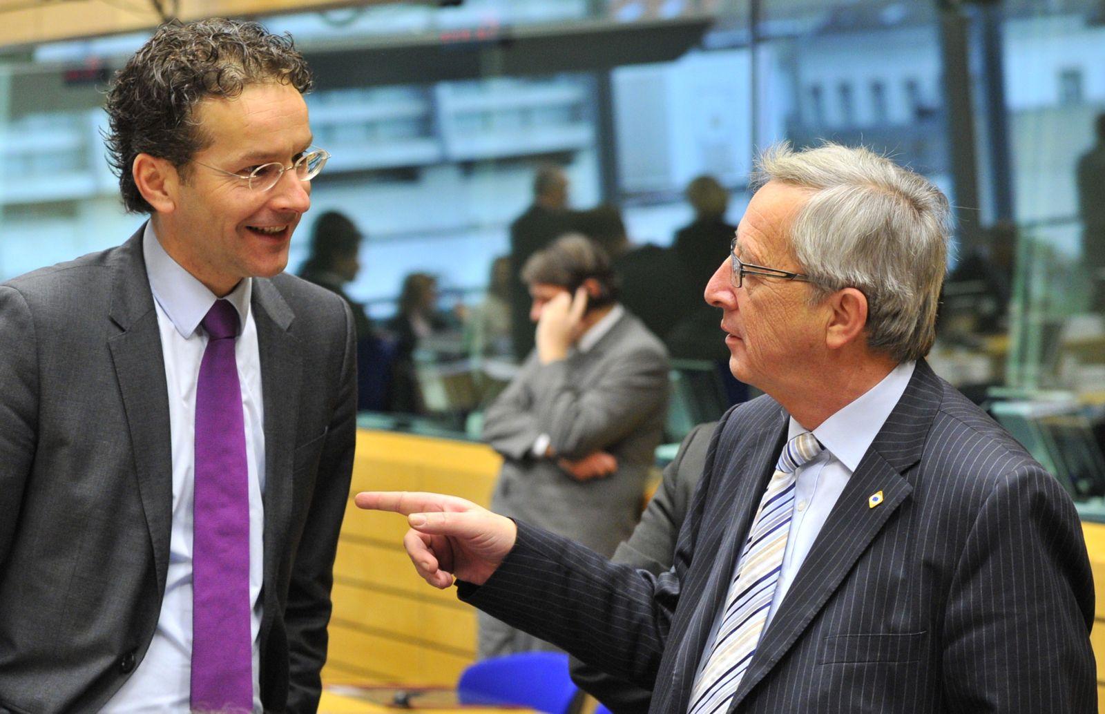 Jeroen Dijsselbloem und Jean-Claude Juncker