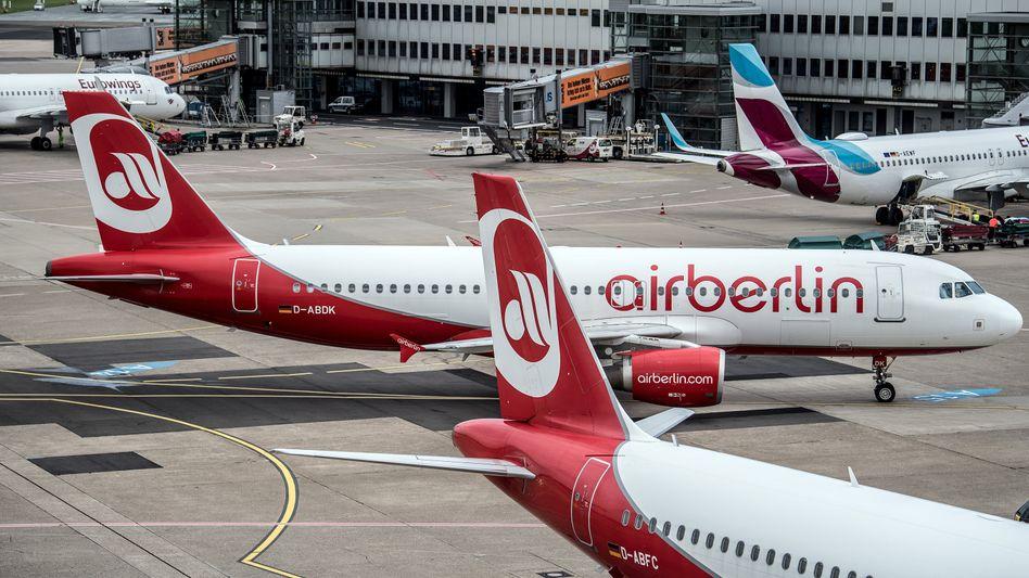 Flugzeuge von Air Berlin und Eurowings