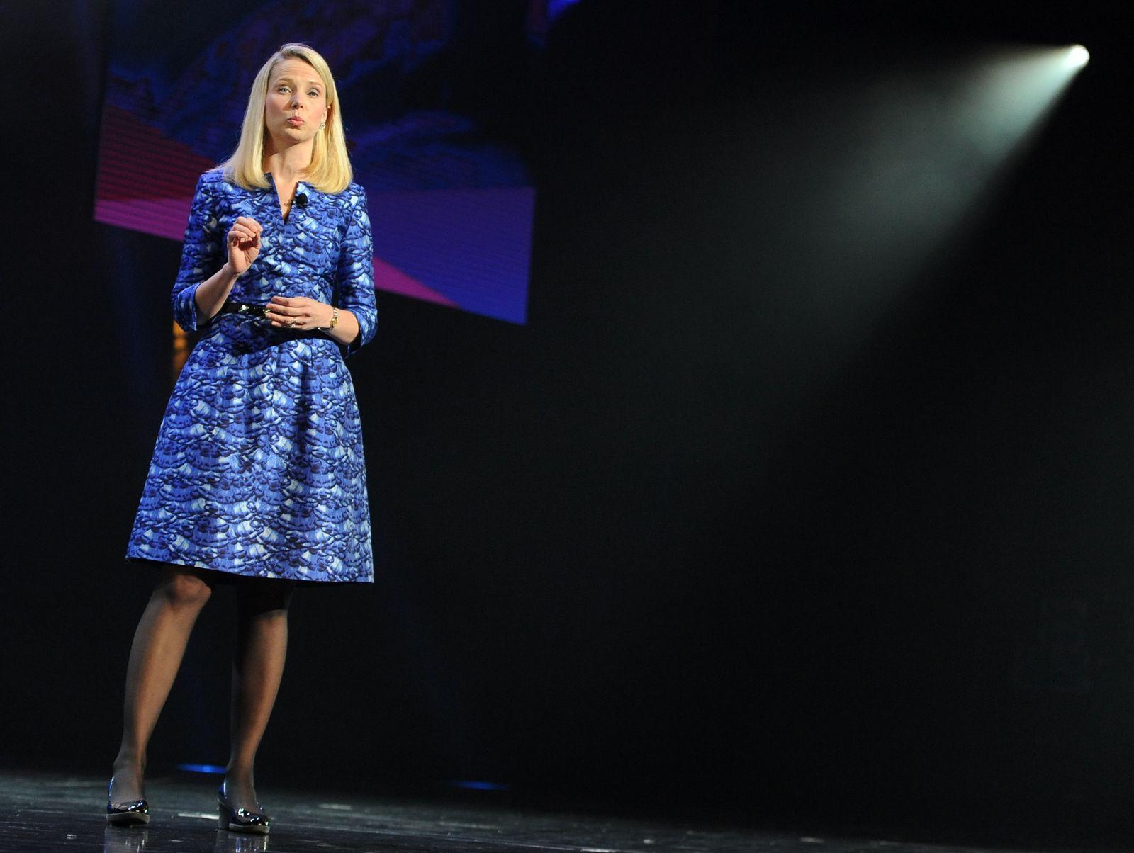Yahoo-Chefin Marissa Mayer CES 2014