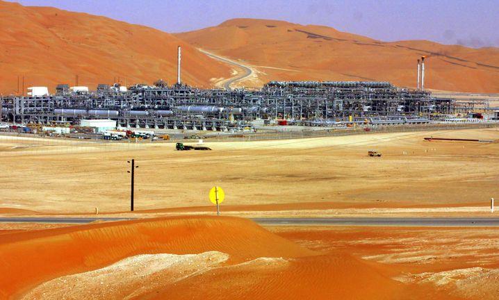 Förderanlage von Saudi Aramco, dem mutmaßlich wertvollsten Konzern der Welt
