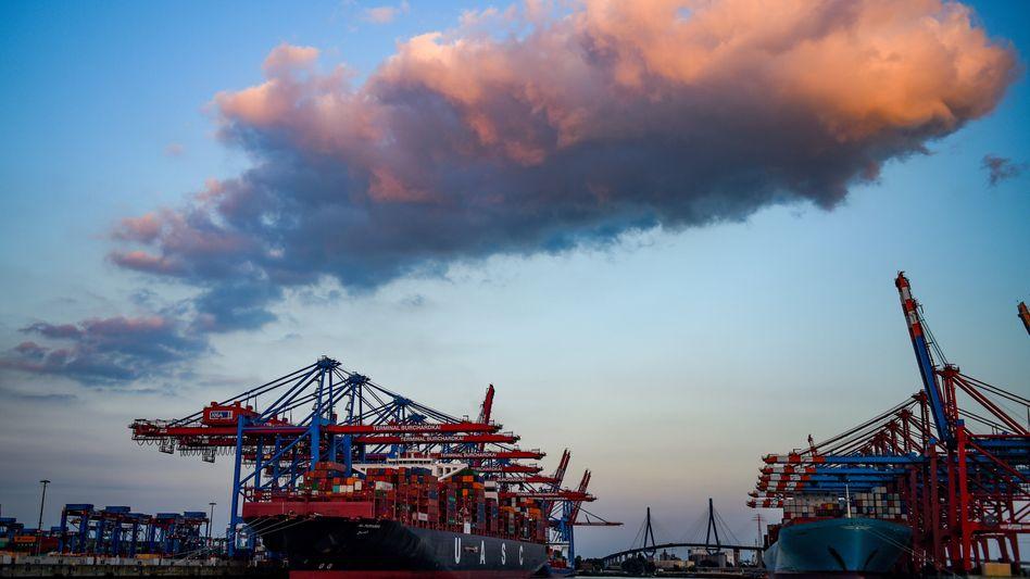 Hamburger Hafen: Vor allem die Exporte trieben die deutsche Wirtschaft im letzten Quartal an