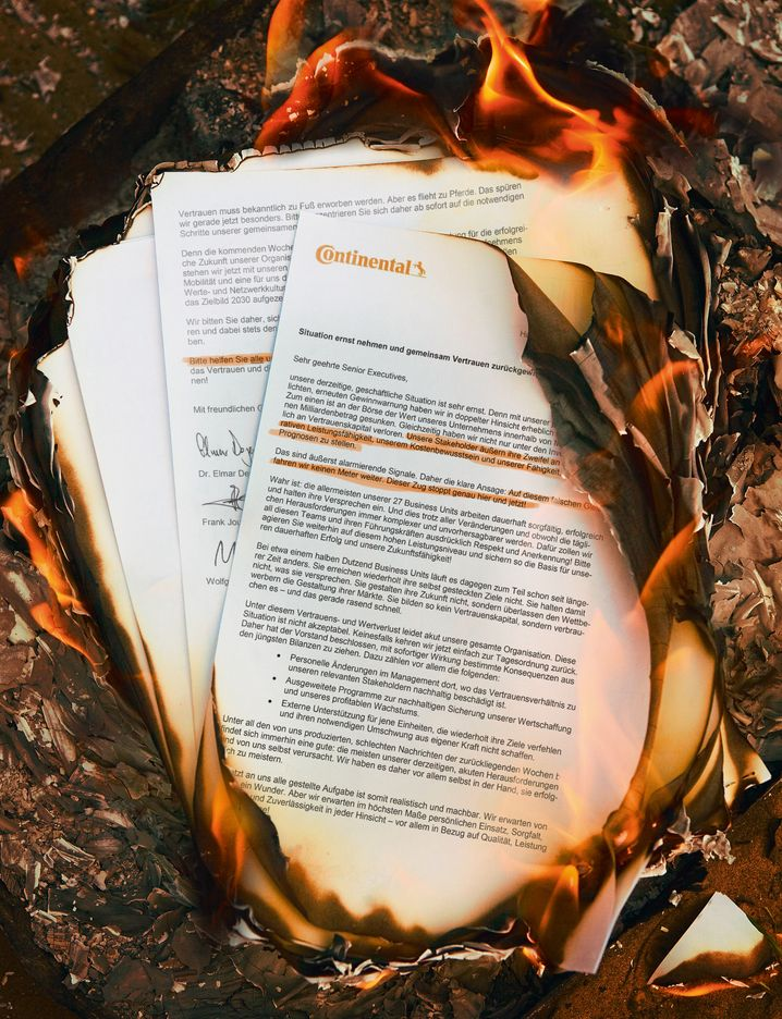 Zunder: Der Brandbrief von Conti-Chef Elmar Degenhart