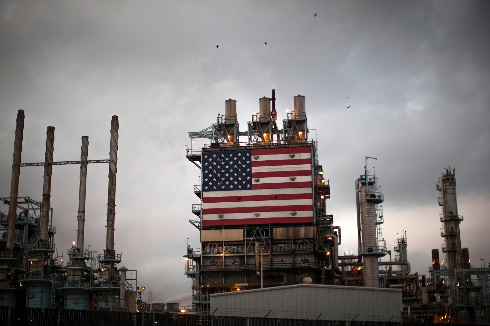 Raffinerie / Industrie / US-Flagge / USA