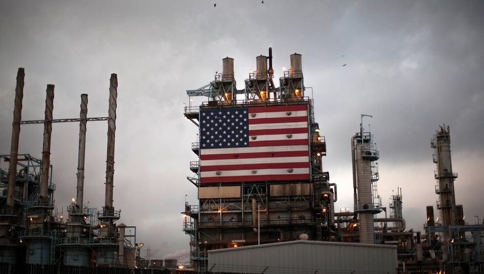 Öl-Raffinerie in Los Angeles.