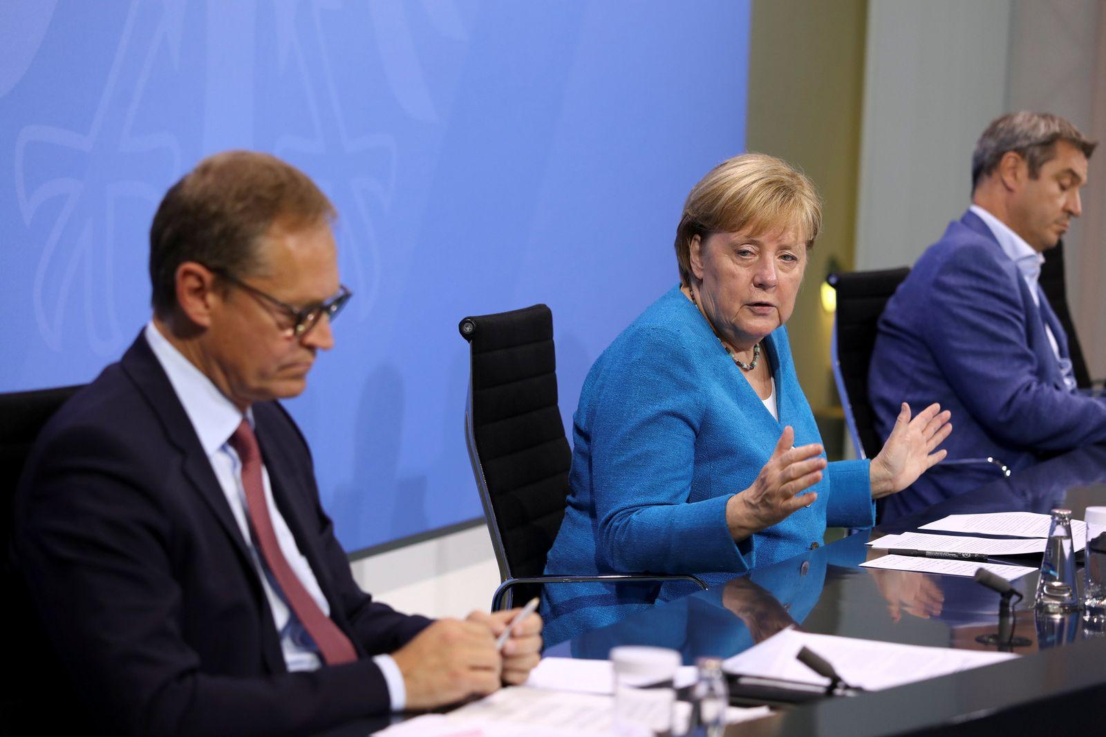 Pressekonferenz nach der Ministerpräsidentenkonferenz
