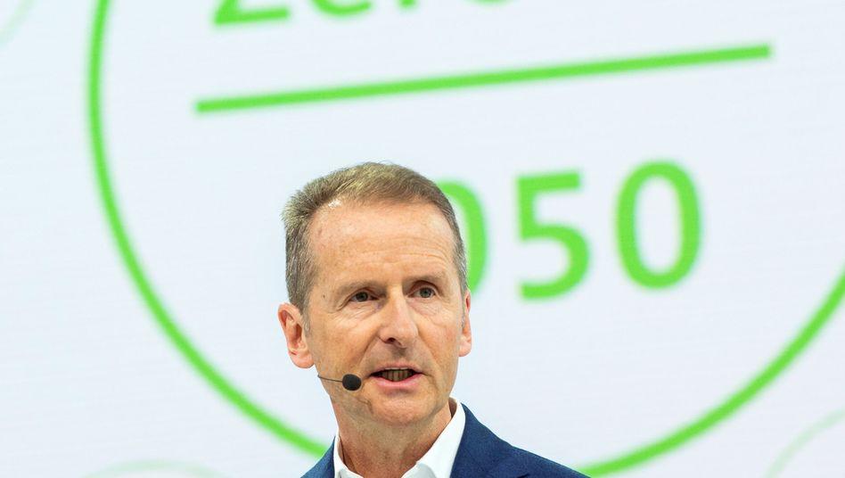 Hat den Streit ausgelöst: VW-Chef Herbert Diess (Archiv)
