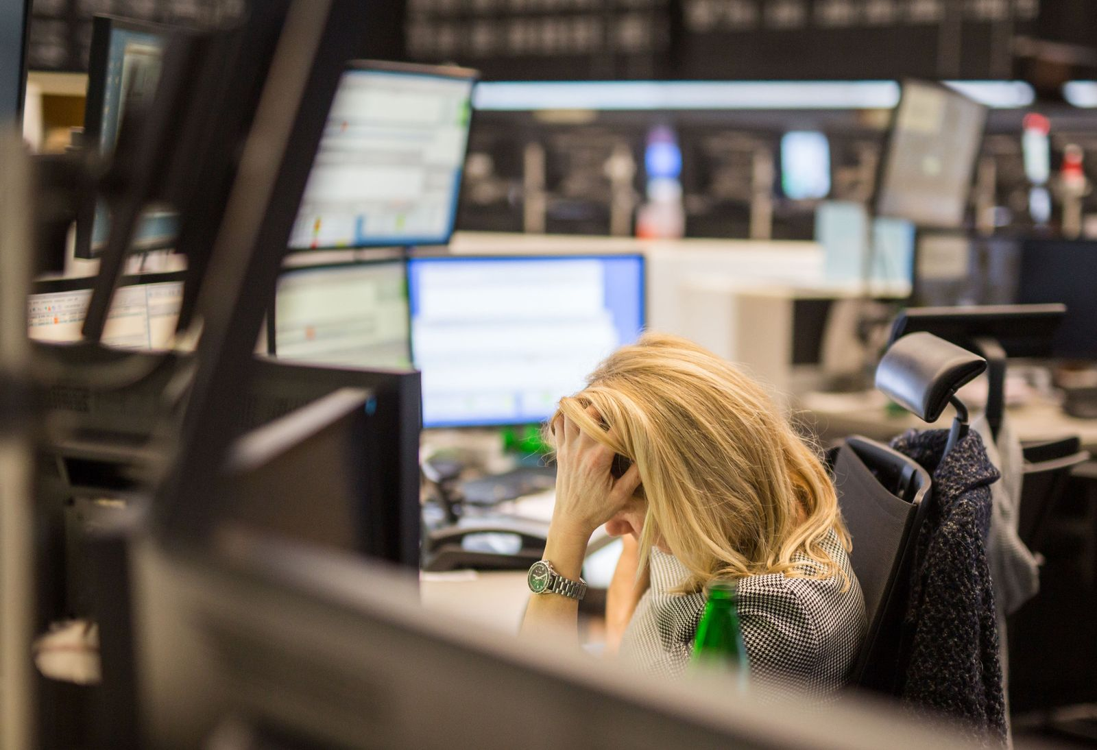 Börse in Frankfurt/Main - Dax unter 10.000 Punkten