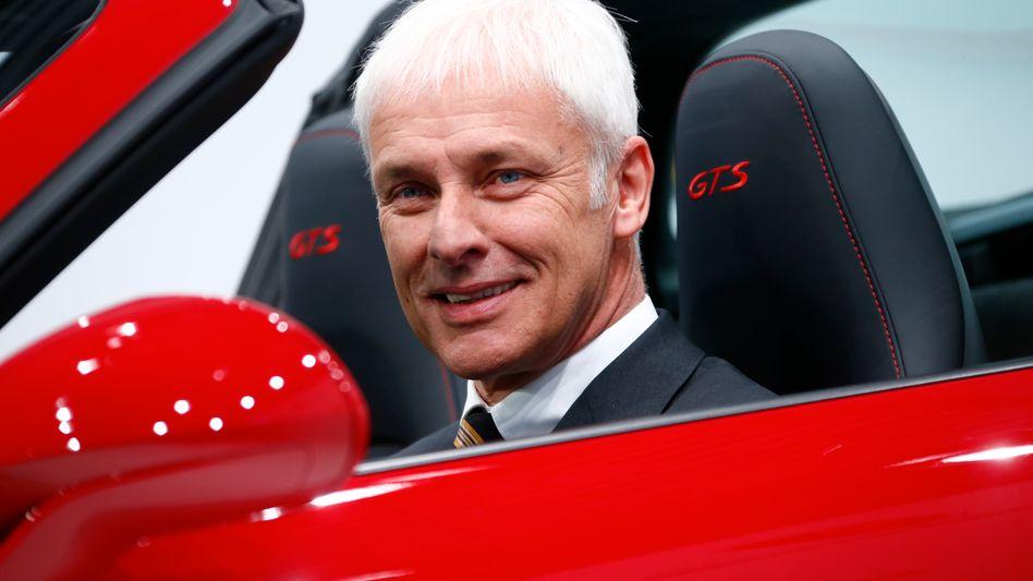 Porsche-Chef Matthias Müller: Er soll am Freitag Nachfolger von Martin Winterkorn werden
