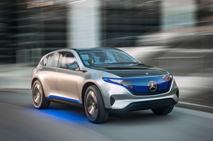 Daimler-Studie Generation EQ : Ein Elektro-Stadtgeländewagen soll als erstes Fahrzeug der neuen Serie noch vor 2020 auf den Markt kommen