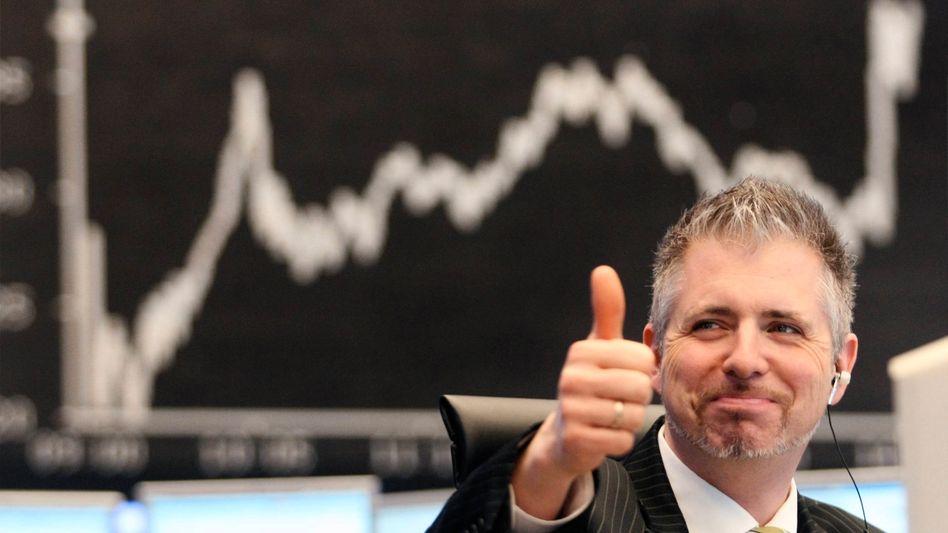 Hoch hinaus und bester Stimmung: Der Dax hat in diesem Jahr mit einem Plus von 16 Prozent viele andere internationale Aktienindizes hinter sich gelassen