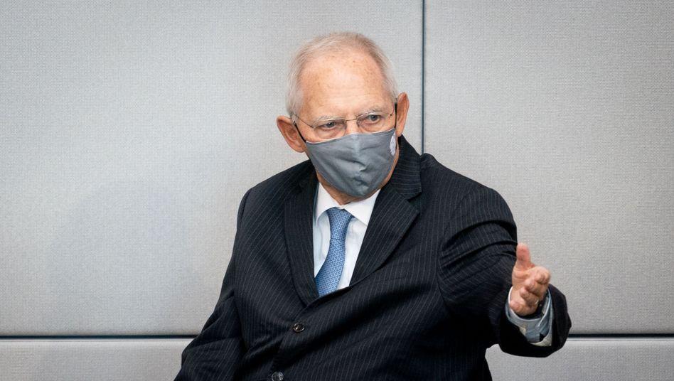 Bundestagspräsident Wolfgang Schäuble am 18. September