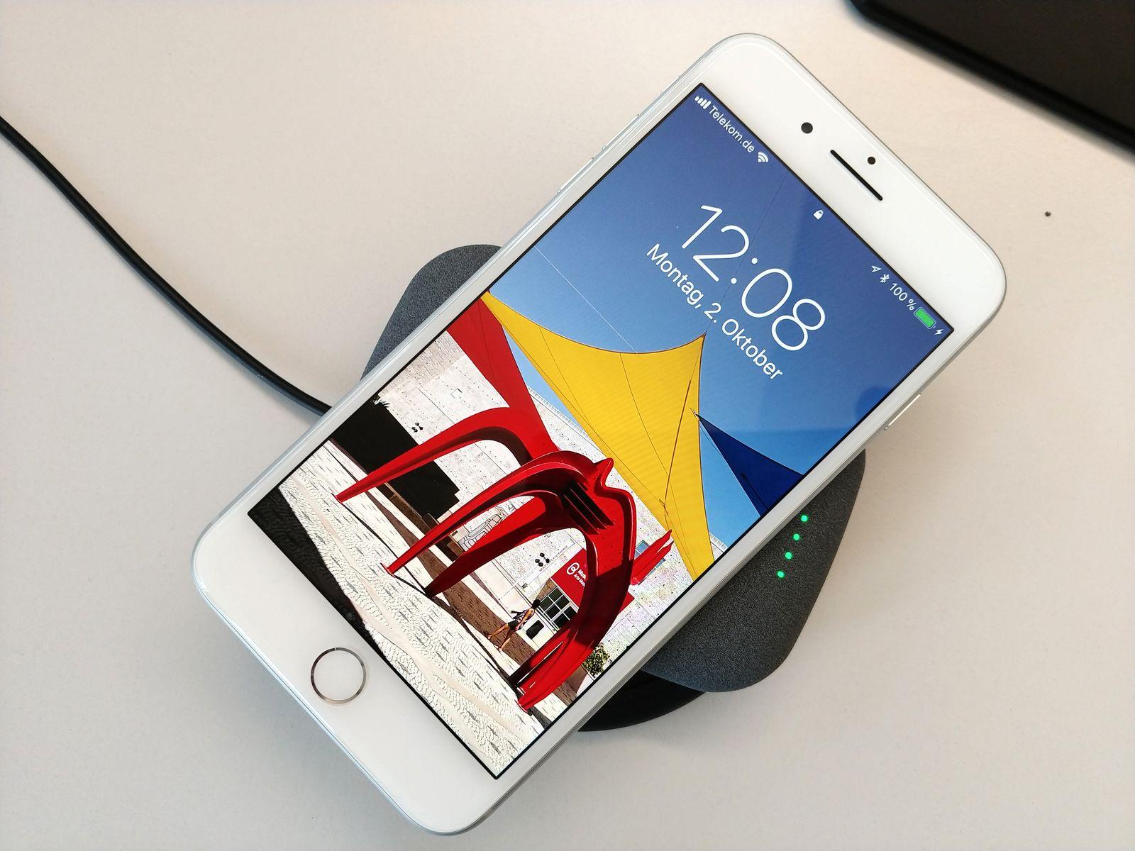 Drahtlose Ladegeräte Qi iPhone 8