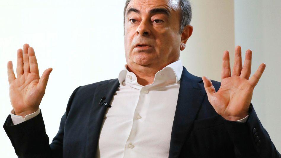 Hält sich weiterhin im Libanon auf: Ex-Nissan-Chef Carlos Ghosn