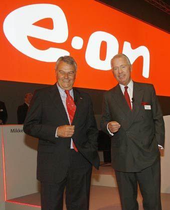 Scheidende Eon-Spitze: Vorstandschef Bernotat (l.) und Chefaufseher Hartmann