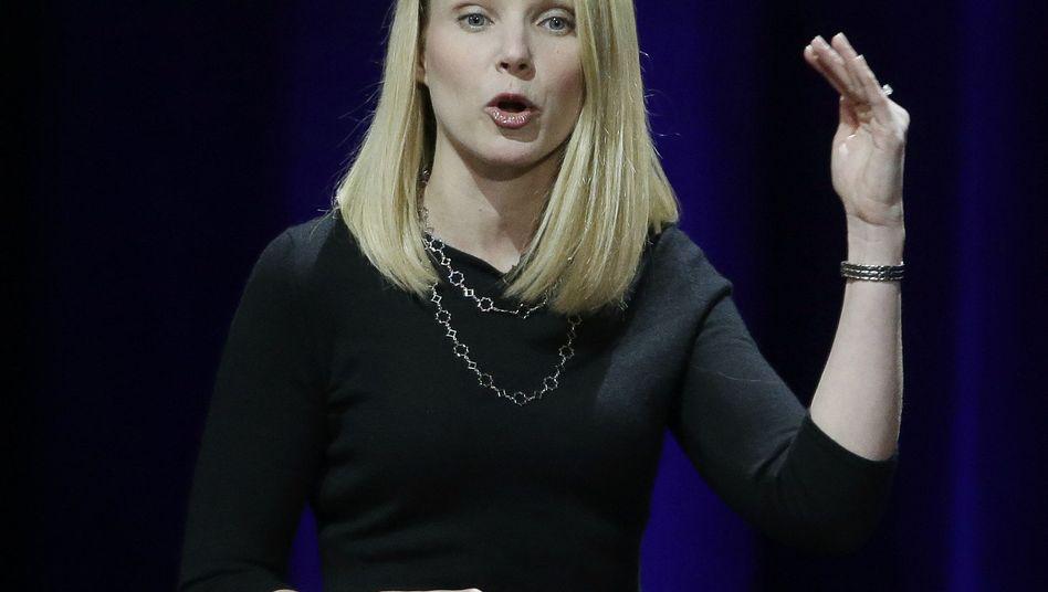 Yahoo-Chefin Marissa Mayer, 39, im Februar bei Yahoos erster Konferenz für Entwickler mobiler Applikationen. Mayer investierte viel ins Smartphone-Geschäft. Für Übernahmen von Softwarefirmen gab sie bislang insgesamt zwei Milliarden Dollar aus.