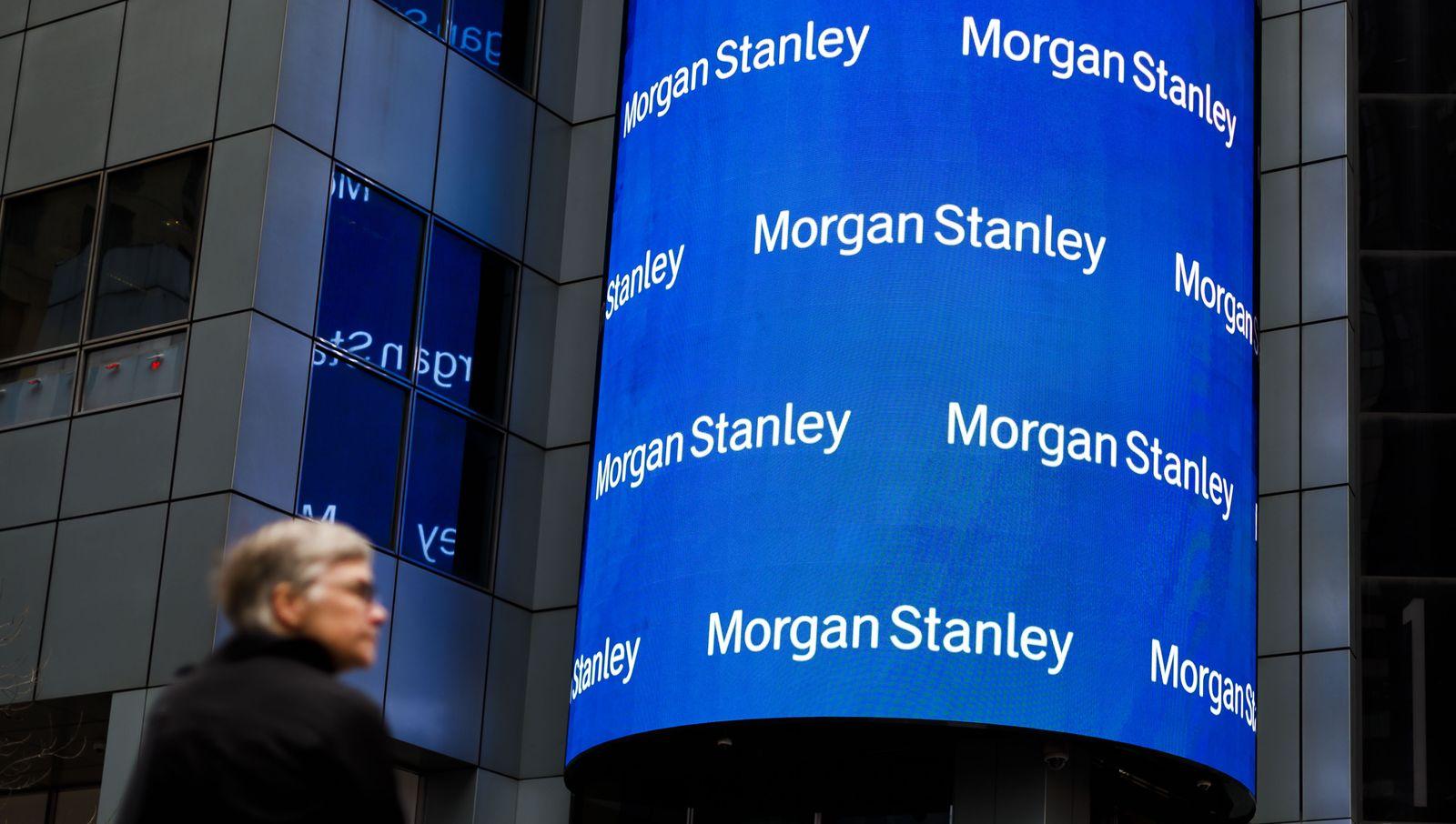 Morgan Stanley results, New York, USA - 20 Feb 2020