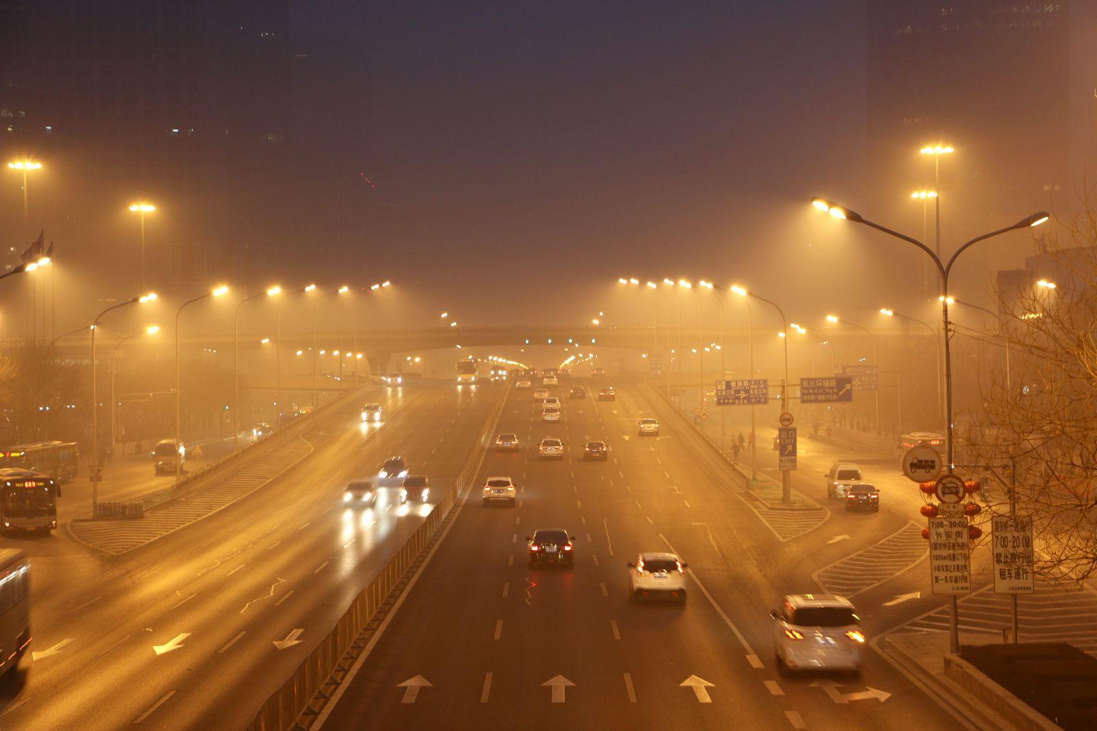 China Luftverschmutzung / Autos