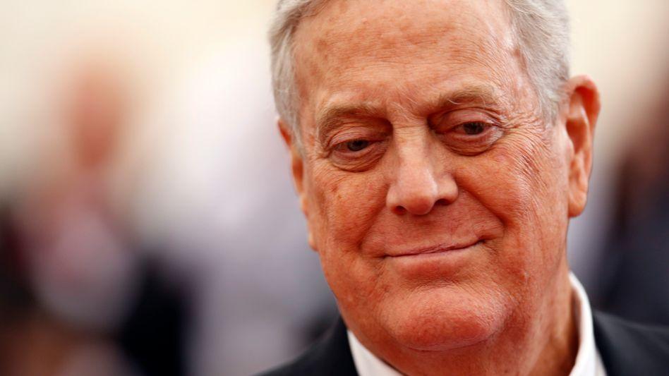 Glückliches Händchen bei Geldtransfer: Milliardär David Koch hatte gemeinsam mit seinem Bruder Charles über Koch Industries in das Finanzsystem des Betrügers Bernie Madoff investiert, aber das Geld rechtzeitig abgezogen