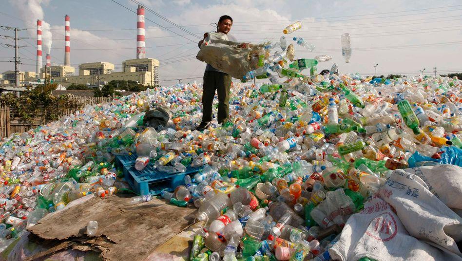 Plastikmüll: Bislang hat Europa Plastikabfälle nach China verschifft. Nun greift ein Importstopp