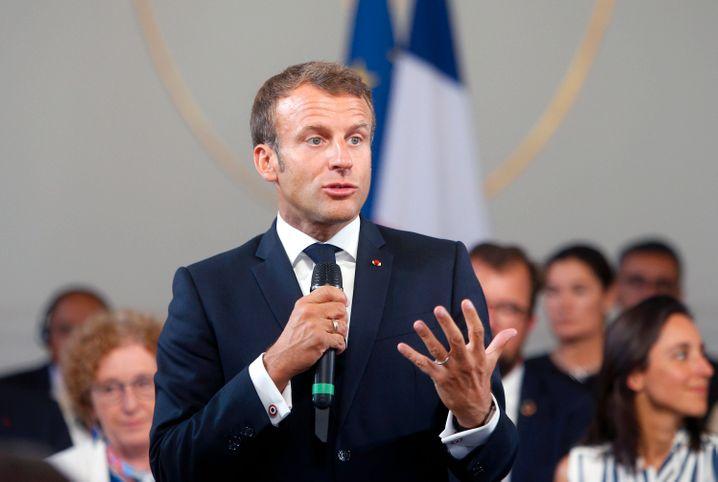 ... Emmanuel Macron, versucht zu Beginn des Gipfels zu deeskalieren