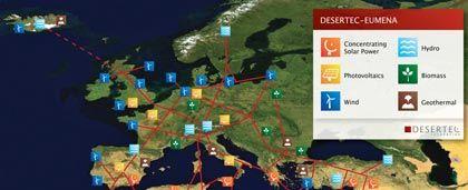 Szenario: So skizziert Desertec die Zukunft des europäischen Stromnetzes