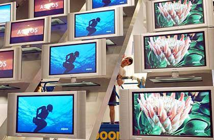 Fläche: Verkauft werden praktisch nur noch flache Fernseher