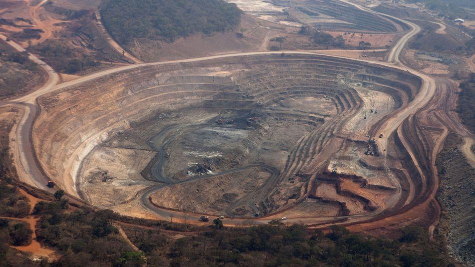 Tagebau Mutanda in der Demokratischen Republik Kongo