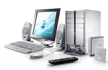 Gehört auf den Schreibtisch: Sony Vaio PCV-RZ504