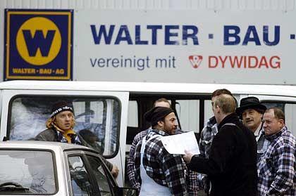 """""""Insolvenzverwalter wirft Nebelkerzen"""": Arbeiter von Walter Bau"""
