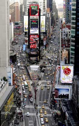 Herz der Wirrnis: Unübersichtlich wie das Treiben am Times Square in New York City erscheint vielen gegenwärtig die Lage am amerikanischen Immobilienmarkt